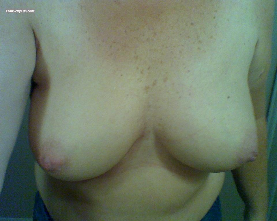 Tit Flash: My Medium Tits (Selfie) - Baby from United States